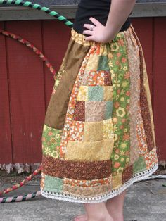 CUSTOM SkirtPatchwork Hippie You dream it by live4peaceCreations, $45.00