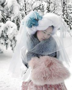 Vogue Korea February 2010 Some Flower in Snow Photographer: Kim Jung Han