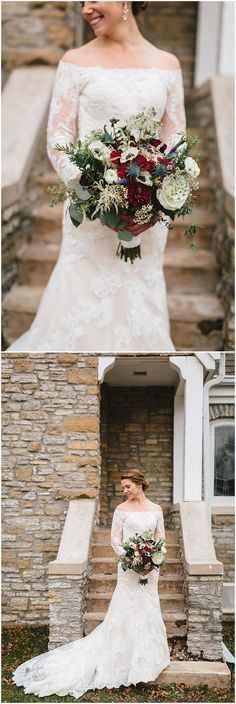 Minneapolis wedding florist Artemisia Studios designs winter wedding bouquet. Photo by Nikki Jilek Photography (http://nikkijilekphoto.com/). #wedidng #winterwedding #flowers #floral #weddingfloral #bride #bridalbouquet #weddinggown #weddingdress #winterwedidngflowers #artemisiastudios #mplsflorist #Minneapolisweddingflorist #minnesotaweddingflorist #florist