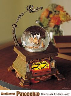 Geppetto's workshop snowglobe. Snow Globe. #snowglobe #winter #decoration