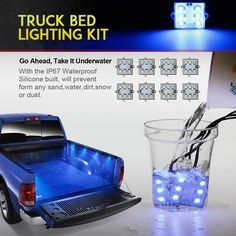 Amazon.com: Partsam Pickup Truck Bed Blue 48 LED Cargo Area Tail Light Kit Fit All 12V Vehicles Dodge Ram 1500-3500 GMC Chevy Ford F150-F350: Automotive
