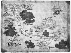 Gorgeous map from Have Sword, Will Travel.