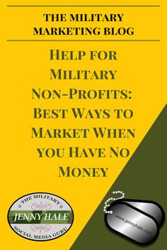 Are you a non-profit or a strapped-for-cash start-up? No worries! There are so many ways you can market your business with no budget. Learn how to do so as a military spouse or veteran non-profit business owner and entrepreneur. Military Spouse, Military Life, Marketing Tactics, Inbound Marketing, Non Profit, Online Business, Budgeting, How To Look Better, Australia