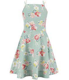 Ralph Lauren Childrenswear Big Girls 7-16 Floral-Printed Sundress