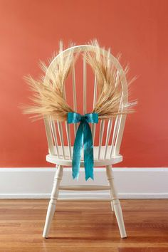 Wheat Horseshoe Wreath