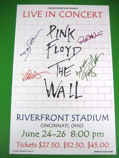 PINK FLOYD THE WALL REPRODUCTION CONCERT POSTER 1980