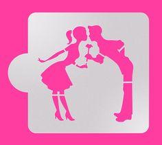 Cookie Stencil Wedding Cookie Stencil Cake stencil by makeandfun