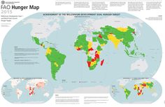 FAO #Hunger #Map 2015 - more at http://www.fao.org/hunger/en/