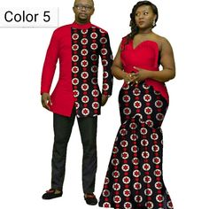 African couple Cotton clothing African ethnic wax printing Skirt and Men's Shirt