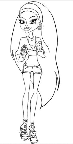 Monster High Brings Assorted Flavor Ice Cream Coloring Pages - Monster High…
