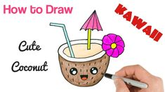 How To Draw Coconut Drink Easy