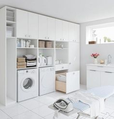 The Little-Known Secrets to Laundry Room Design Ideas There are lots of design ideas in the post basement laundry room which you are able to find, you. laundry room Solutions for Laundry Room Design Ideas Modern Laundry Rooms, Laundry Room Layouts, Laundry Room Cabinets, Basement Laundry, Laundry Room Organization, Diy Cabinets, Laundry Closet, Basement Flooring, Küchen Design