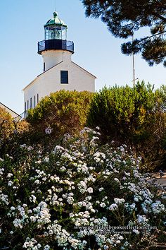 The old Point Loma Lighthouse, San Diego, California