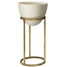 Kathy Kuo Home Leslie Modern Classic White Gold Egg Planter Medium Classic Home Decor, Classic House, Classic White, Modern Classic, Gold Planter, Iron Accessories, Colored Glass Bottles, Rustic Loft, Weathered Wood
