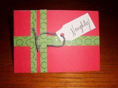 An easy DIY Christmas card you can make with just a few materials and a few minutes.