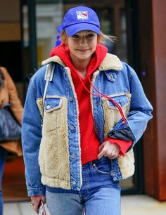 Gigi Handid in NYC #streetstyle