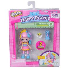 Shopkins Happy Places Kitty Kitchen Doll with Petkins - Rainbow Kate #MooseToys