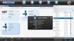 Plattform für Austausch technischer Dokumente in der Cloud: Projektraumüersichtr von PROOM.  Abb. PROCAD
