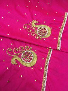 Black Blouse Designs, Simple Blouse Designs, Blouse Neck Designs, Hand Work Design, Hand Work Blouse Design, Aari Work Blouse, Maggam Work Designs, Pattu Saree Blouse Designs, Embroidery Neck Designs
