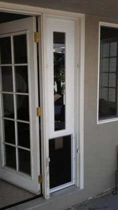 Pet door on pinterest doors pets and patio for French doors with dog door built in