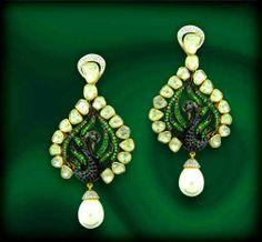 peacock earrings1