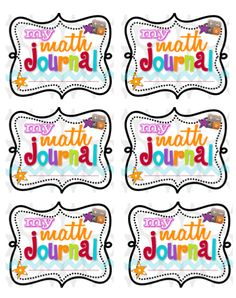 Here's a set of math journal labels and printable instructions to paste inside student notebooks.