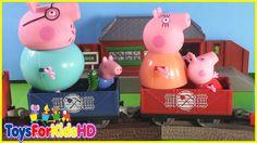 Peppa Pig y Thomas reparten huevos de pascua a sus amigos - Peppa Pig en español ToysForKidsHD