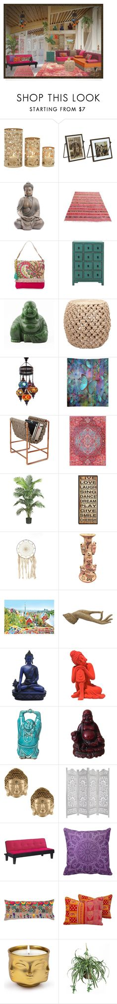 """""""Bohemian"""" by colonae ❤ liked on Polyvore featuring interior, interiors, interior design, home, home decor, interior decorating, Spartina 449, Surya, Nearly Natural and Rachel Rachel Roy"""