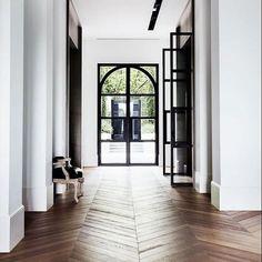 Scandinavian Interior Design, Modern Interior Design, French Oak, French Doors, Italian Living Room, Door Design, House Design, Hallway Designs, Melbourne House