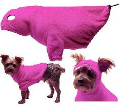 Dog Hoodie with Earholes - Pink - 5 - 110 lbs. one day if I learn to use a sewing machine.