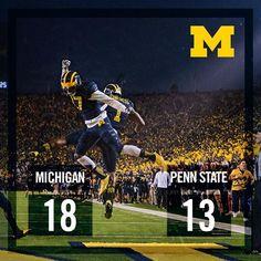 Michigan Football Postgame Graphic