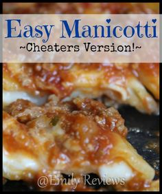 Easy Manicotti Recip
