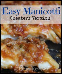 Easy Manicotti Recip