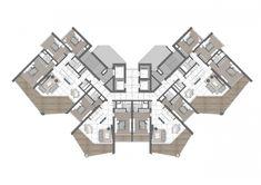 Architecture Concept Diagram, Architecture Plan, Residential Architecture, Hotel Floor Plan, House Floor Plans, Residential Building Plan, Architectural Floor Plans, Villa Plan, Apartment Floor Plans