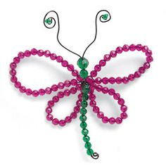 Dragon Fly: If being cooped up inside on a rainy day bugs you, try chasing away the blues with a collection of these little insects. The dragonflies, caterpillars, and beetles are a snap to make and great for sparking your kids' creativity. [click for instructions]