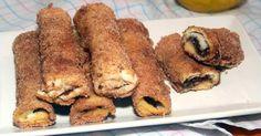 Canutillos de pan de molde con Nocilla o Nutella