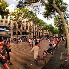 The main tourist street through the center of Barcelona, I lived just off the left of it for the summer of '13