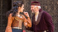 Jonathan Pryce and Phoebe Pryce in The Merchant of Venice.