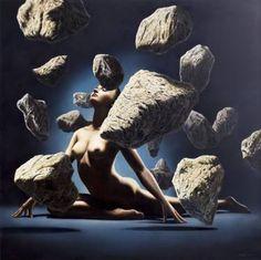 "Saatchi Art Artist Gustavo Fernandes; Painting, ""Dancing Stones"" #art"
