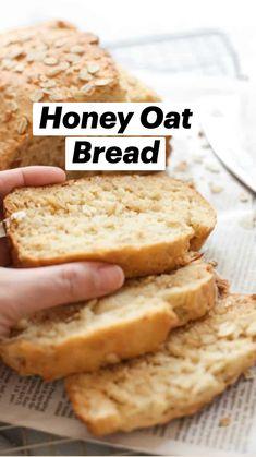 Good Gluten Free Bread Recipe, Egg Free Recipes, Soup Recipes, Diet Recipes, Honey Oat Bread, Bread Machine Recipes, Keto Bread, Quick Bread, Dessert Recipes