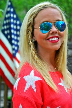 Memorial Day and 4th of July Outfit Ideas! Wear your red, white and blue!