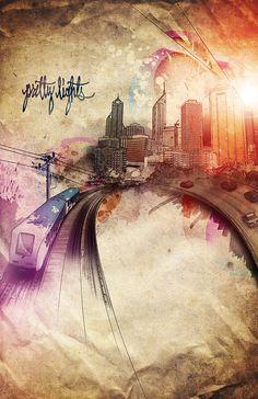 Pretty Lights Cityscape on Behance