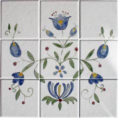 płytki malowane (proj. yayco), do kupienia w DecoBazaar.com