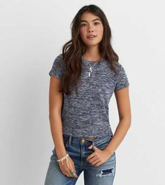 AEO Textured Baby T-Shirt - Buy One Get One 50% Off