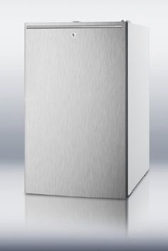 """Summit FS407LSSHH: 20"""" wide counter height all-freezer, -20(degree) C capable with a lock, stainless steel door, horizontal handle and white cabinet. Color: other. Slim 20"""" width is ideal for any setting. Please Call For Orders To Hawaii And Alaska. 20(degree) C capable with interior slide-out drawers for easy storage. Factory installed lock provides security you can count on."""