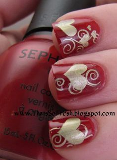 302 Best Nail Art Valentines Love Images On Pinterest Pretty