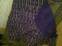 Crown Royal blanket made from 100% 250+ Crown Royal bags (except for the thread to sew it together!) If only I liked Crown Royal enough to have the bags to make this!
