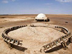 Restos da locação do filme Star Wars na Tunísia