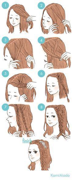 A few steps to do your hair and act like a goddess .- Ein paar Schritte, um dein Haar zu tun und wie eine Göttin aussehen A few steps to do your hair and look like a goddess - Goddess Hairstyles, Fringe Hairstyles, Cute Hairstyles, Cute Simple Hairstyles, Pretty Hairstyles, Hair Dos, Hair Hacks, Hair Lengths, Hair And Nails