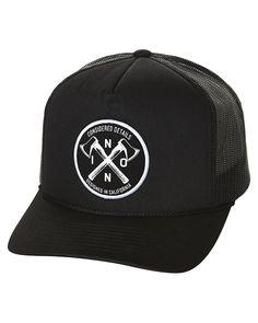 388b2babc9c Mens Nixon Axs Trucker Cap Black Polyester http   www.